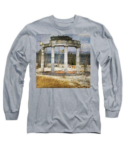 Long Sleeve T-Shirt featuring the digital art Barren Shoreline by Liane Wright
