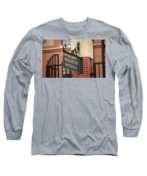Baseball Warning Long Sleeve T-Shirt by Frank Romeo