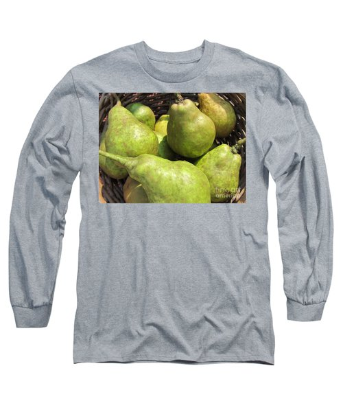 Basket Of Green Pears Long Sleeve T-Shirt