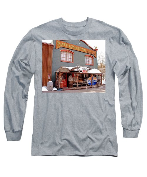 Battle Mountain Trading Post Long Sleeve T-Shirt by Fiona Kennard