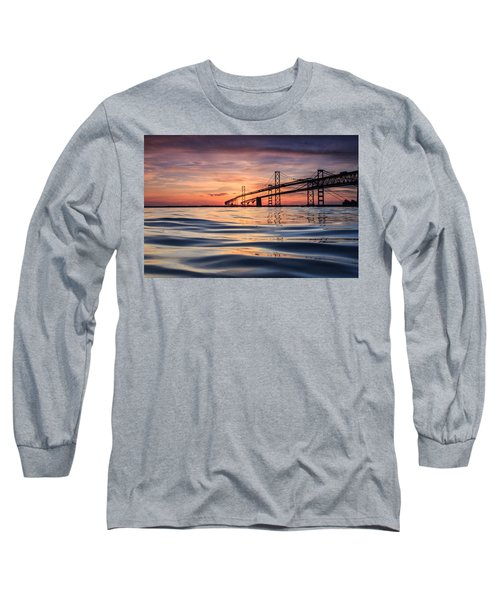 Long Sleeve T-Shirt featuring the photograph Bay Bridge Silk by Jennifer Casey