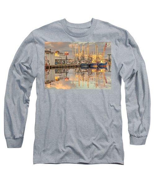Bayou La Batre' Al Shrimp Boat Reflections 39 Long Sleeve T-Shirt