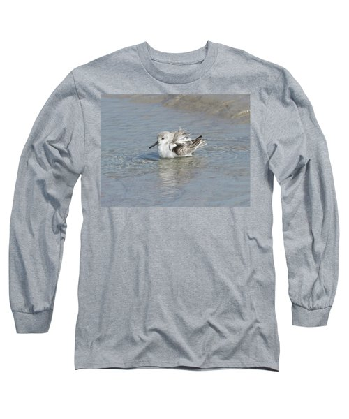 Beach Bird Bath 4 Long Sleeve T-Shirt