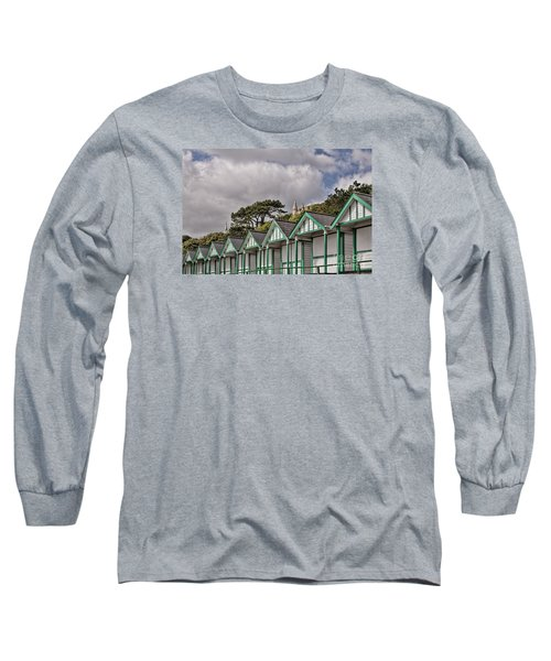 Beach Huts Langland Bay Swansea 3 Long Sleeve T-Shirt