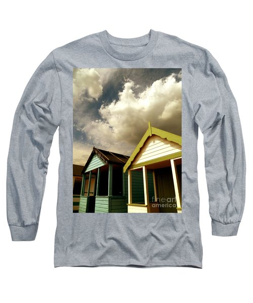 Beach Huts Long Sleeve T-Shirt by Vicki Spindler