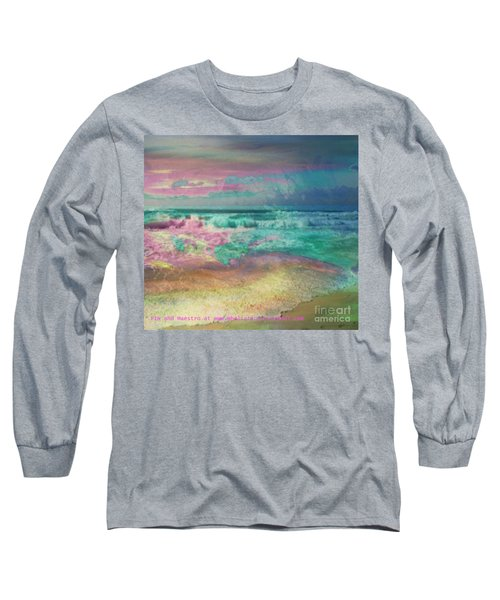 Beach  Overcast Long Sleeve T-Shirt by PainterArtist FIN