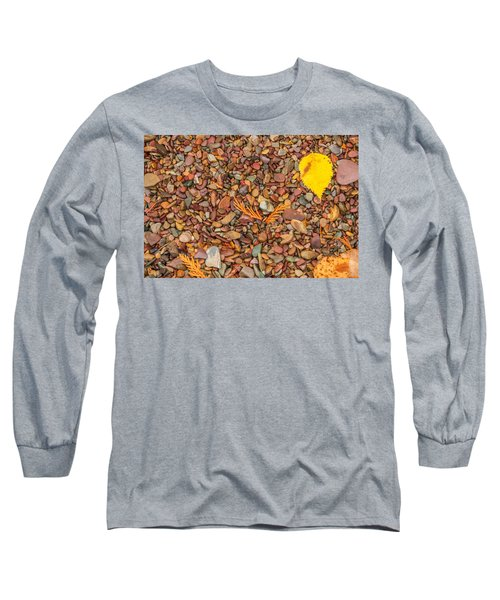 Beach Pebbles Of Montana Long Sleeve T-Shirt