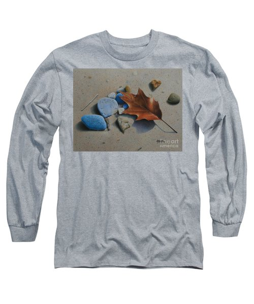 Long Sleeve T-Shirt featuring the painting Beach Still Life II by Pamela Clements
