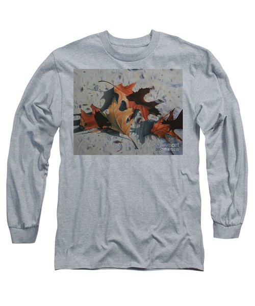 Long Sleeve T-Shirt featuring the painting Beach Still Life by Pamela Clements