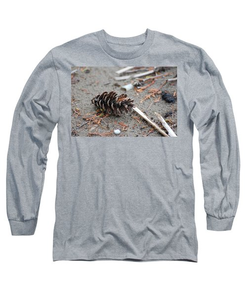 Long Sleeve T-Shirt featuring the photograph Beach Treasures by Bianca Nadeau