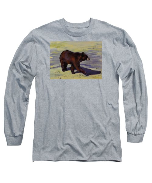 Bear Shadows Long Sleeve T-Shirt by Pattie Wall