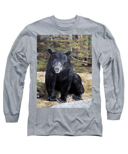Bear - Wildlife Art - Ursus Americanus Long Sleeve T-Shirt