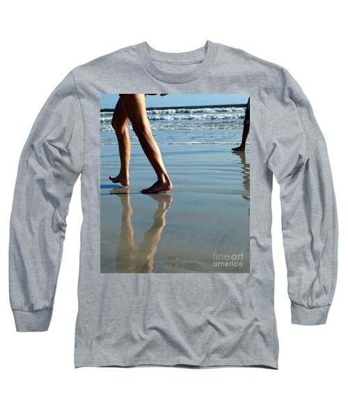 Beat Feet Long Sleeve T-Shirt by Irma BACKELANT GALLERIES
