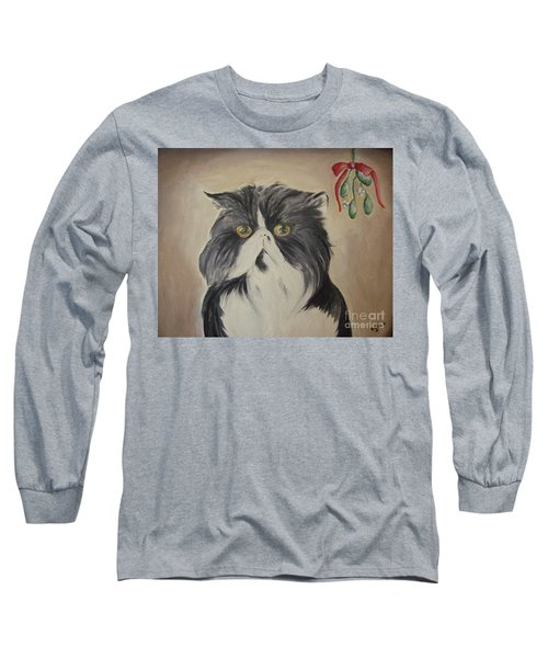 Beau With Mistletoe Long Sleeve T-Shirt by Victoria Lakes