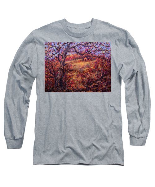 Long Sleeve T-Shirt featuring the painting Beautiful Autumn by Natalie Holland