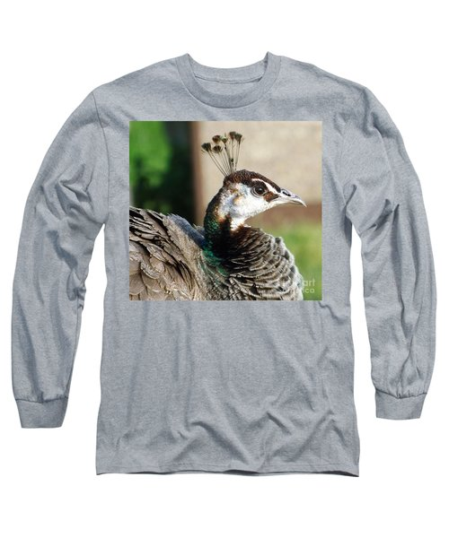 Beautiful Peahen Long Sleeve T-Shirt