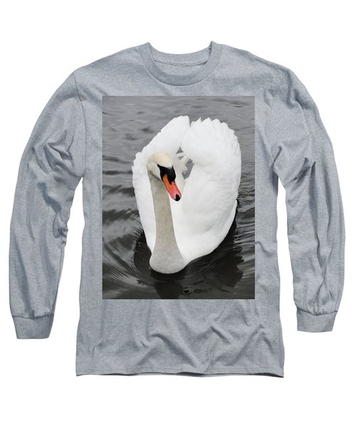 Long Sleeve T-Shirt featuring the photograph Beautiful Swan by Tiffany Erdman