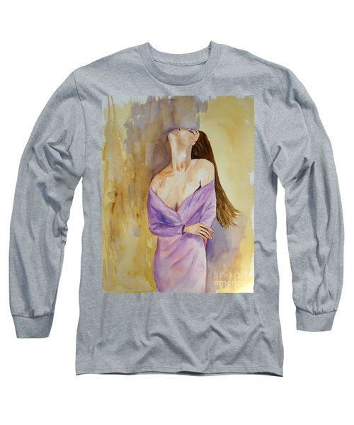 Beauty In Thought Long Sleeve T-Shirt by Vicki  Housel