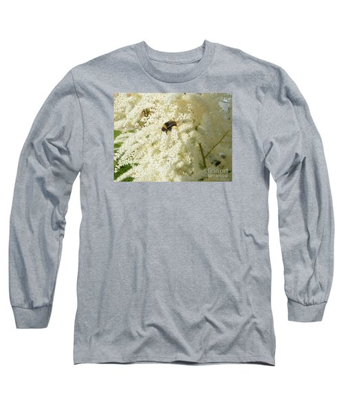 Bee Gathering Pollen Long Sleeve T-Shirt