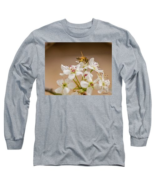 Bee Working The Bradford Pear 4 Long Sleeve T-Shirt