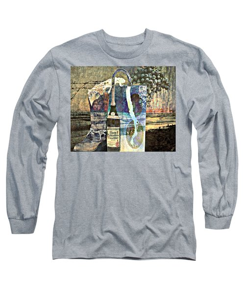 Long Sleeve T-Shirt featuring the mixed media Beer On Tap by Ally  White