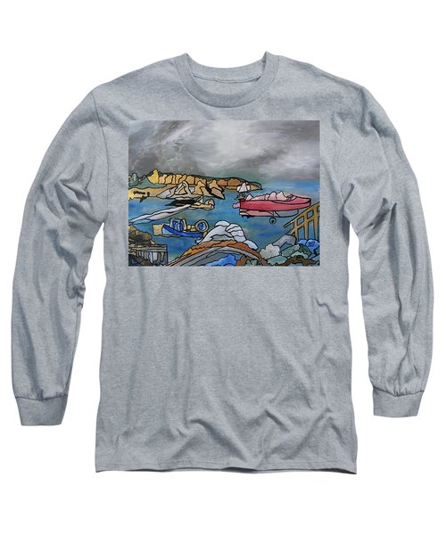 Long Sleeve T-Shirt featuring the painting Before The Storm by Barbara St Jean