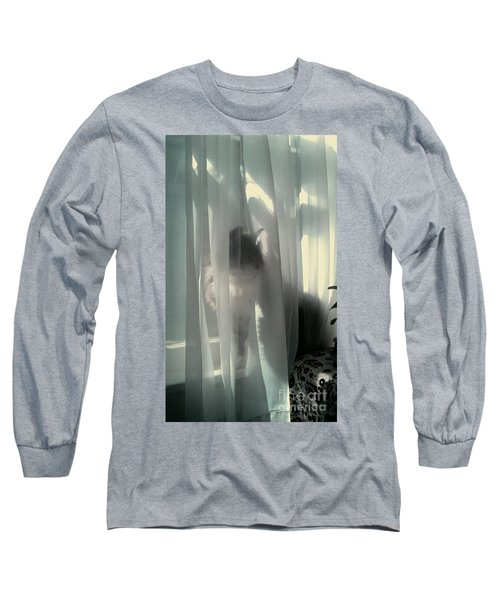Long Sleeve T-Shirt featuring the photograph Behind The Curtain by Jacqueline McReynolds