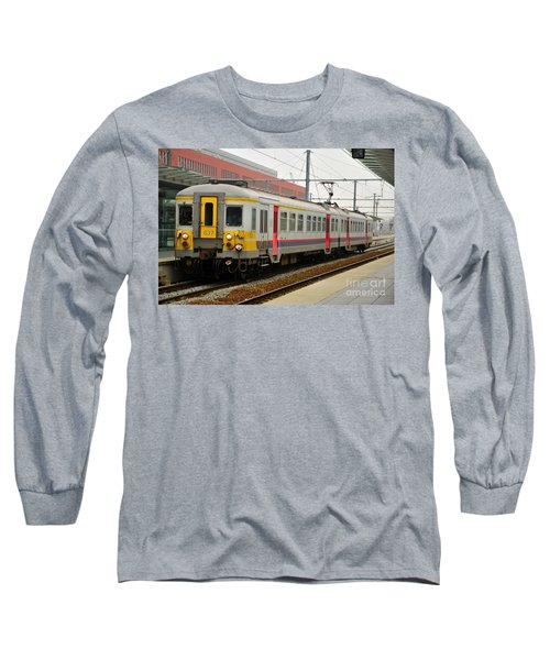 Belgium Railways Commuter Train At Brugge Railway Station Long Sleeve T-Shirt