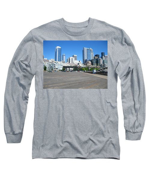Below The Line Long Sleeve T-Shirt by David Trotter