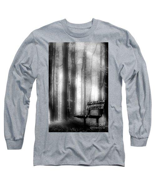 Bench In Michigan Woods Long Sleeve T-Shirt
