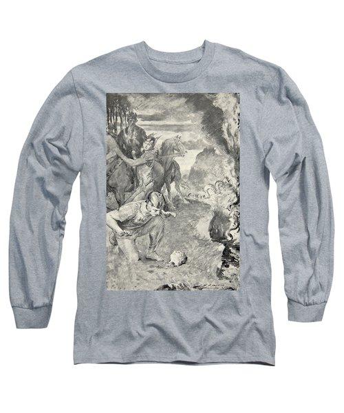 Beowulf Finds The Head Of Aschere Long Sleeve T-Shirt