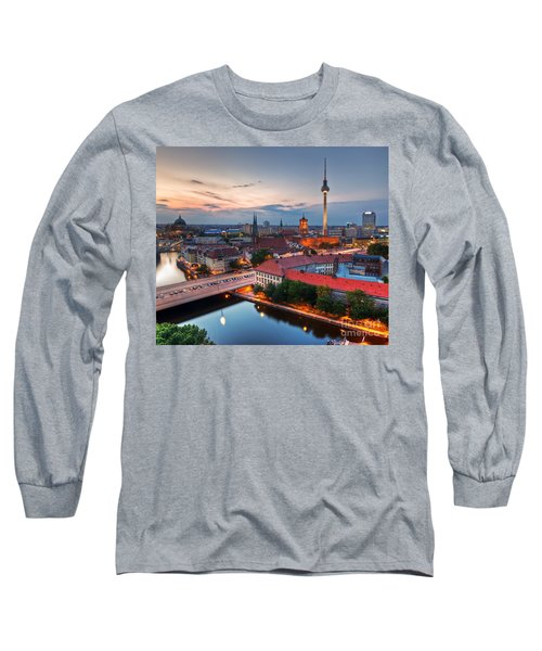 Berlin Germany Major Landmarks At Sunset Long Sleeve T-Shirt