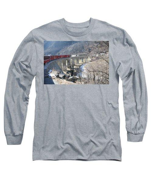 Bernina Express In Winter Long Sleeve T-Shirt