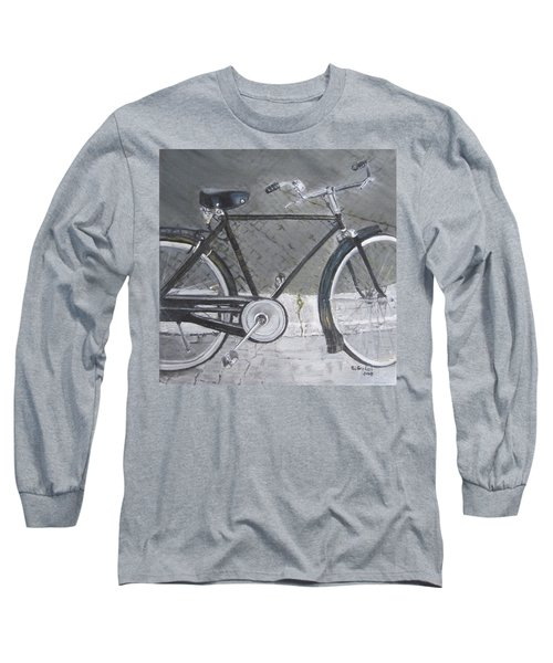 Bicycle In Rome Long Sleeve T-Shirt by Claudia Goodell