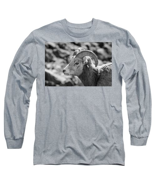 Big Horn Sheep Profile Long Sleeve T-Shirt