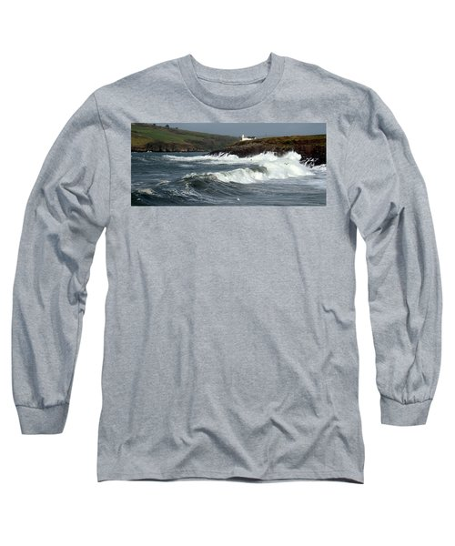 Big Swell In Dingle Bay Long Sleeve T-Shirt by Barbara Walsh