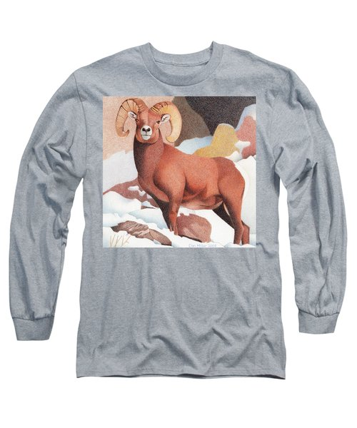 Bighorn Sheep Long Sleeve T-Shirt by Dan Miller