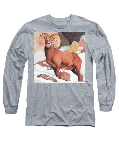 Bighorn Sheep Winter Long Sleeve T-Shirt