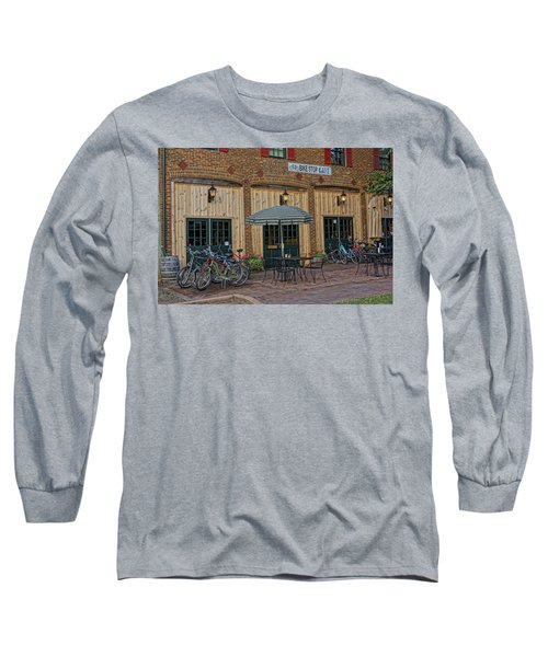 Bike Shop Cafe Katty Trail St Charles Mo Dsc00860 Long Sleeve T-Shirt by Greg Kluempers