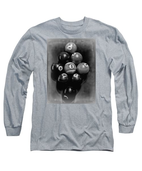 Billiards Art - Your Break - Bw  Long Sleeve T-Shirt