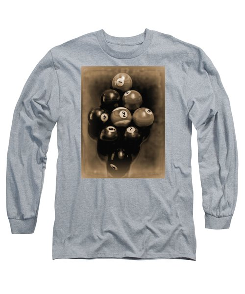 Billiards Art - Your Break - Bw Opal Long Sleeve T-Shirt