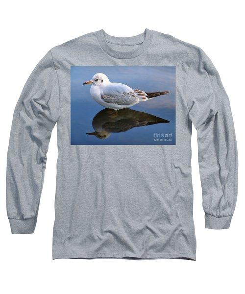 Bird Reflections Long Sleeve T-Shirt by John Swartz