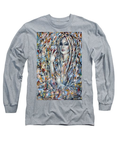 Long Sleeve T-Shirt featuring the painting Bitter Sweet 270610 by Selena Boron