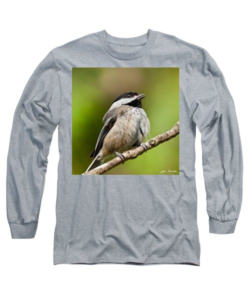 Black Capped Chickadee Singing Long Sleeve T-Shirt