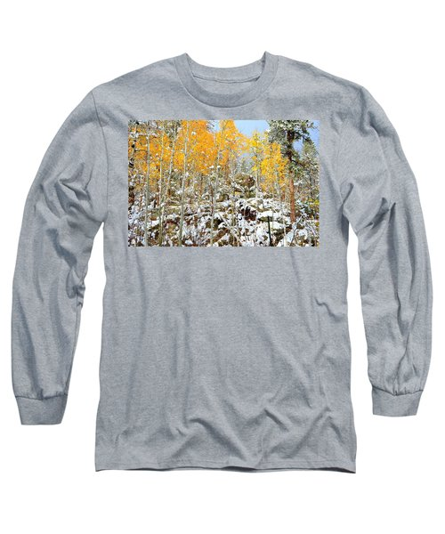 Black Hills Boulders Long Sleeve T-Shirt by Clarice  Lakota