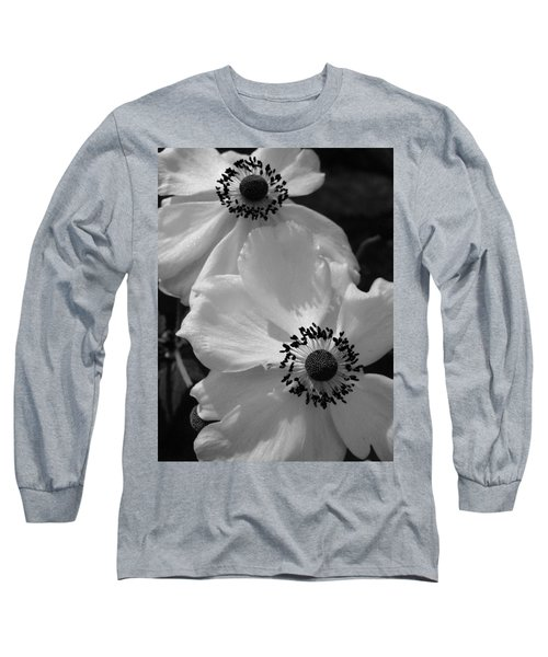 Black On White Long Sleeve T-Shirt