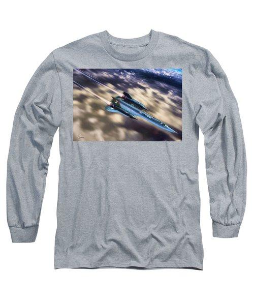 Long Sleeve T-Shirt featuring the painting Blackbird by Dave Luebbert