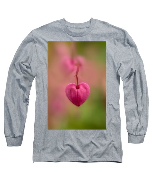 Bleeding Heart Flower Long Sleeve T-Shirt