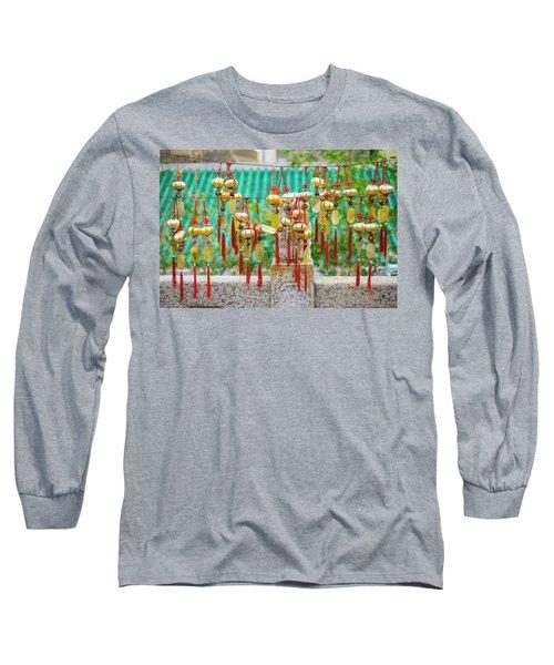 Blessing Wind Bells, Prayer Bells Long Sleeve T-Shirt