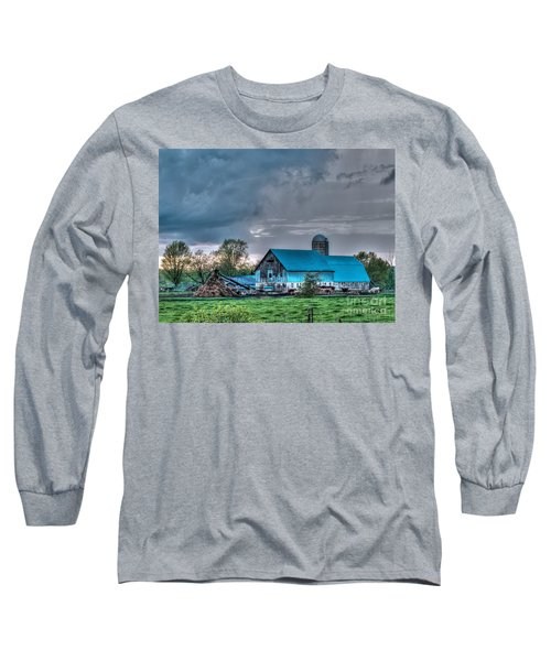 Blue Barn Long Sleeve T-Shirt by Bianca Nadeau